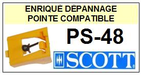 SCOTT  PS48 PS-48 (2°montage)<br> Pointe sphérique pour tourne-disques (<b>sphérical stylus</b>)<small> 2016-01</small>