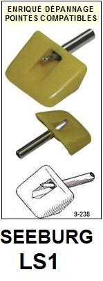 SEEBURG-LS1  JUKEBOX-POINTES-DE-LECTURE-DIAMANTS-SAPHIRS-COMPATIBLES