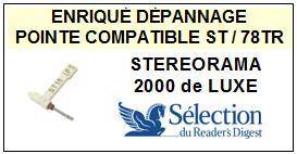 SELECTION DU READERS DIGEST STEREORAMA 2000 DE LUXE <br>Pointe Diamants réversibles (stylus stéréo/78tr )<small> 2015-11</small>