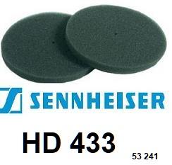 SENNHEISER HD433 HD-433 <br>mousse de casque (vente par paire) <small>a 2016-01</small>