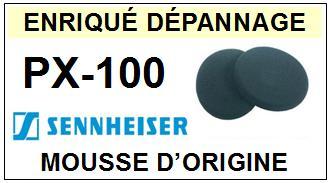 SENNHEISER PX100 PX-100  mousse D\'ORIGINE casque (vente par paire)<br><small>acc 2014-03</small>