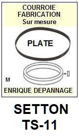 SETTON TS11 TS-11 <br>courroie plate pour tourne-disques (<b>flat belt</b>)<small> 2016-01</small>