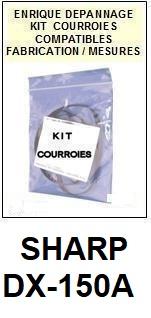 SHARP-DX150A DX-150A-COURROIES-ET-KITS-COURROIES-COMPATIBLES