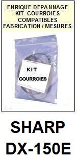 SHARP-DX150E DX-150E-COURROIES-ET-KITS-COURROIES-COMPATIBLES