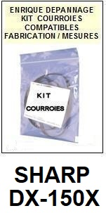 SHARP-DX150X DX-150X-COURROIES-ET-KITS-COURROIES-COMPATIBLES