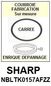 SHARP NBLTK0157AFZZ  <BR>Courroie carrée référence sharp (<B>square belt</B> manufacturer number)<small> 2017 OCTOBRE</small>