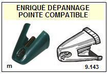 SHARP<br> RP1122 RP-1122 Pointe (stylus) sphérique pour tourne-disques <BR><small>sc 2015-08</small>