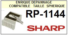 SHARP<br> RP1144 RP-1144 Pointe (stylus) diamant sphérique<small> 2015-09</small>
