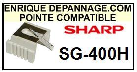 SHARP<br> SG400H SG-400H Pointe sphérique pour tourne-disques <BR><small>sc 2015-08</small>