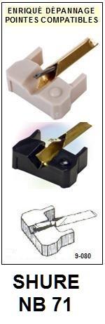 SHURE-NB71-POINTES-DE-LECTURE-DIAMANTS-SAPHIRS-COMPATIBLES
