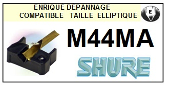 SHURE M44MA <br>Pointe Diamant Elliptique (stylus)<small> 2015-11</small>
