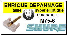 SHURE-M75-6S-POINTES-DE-LECTURE-DIAMANTS-SAPHIRS-COMPATIBLES