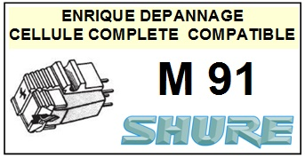SHURE<br> M91  Cellule diamant Sphérique (<B>cartridge</B>)<small> 2016-02</small>