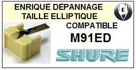 SHURE M91ED M-91ED HI TRACK <br>Pointe Diamant Elliptique  (stylus)<small> 2015-12</small>