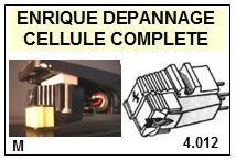 SHURE M92  <BR>Cellule diamant Sphérique (<B>cartridge</B>)<small> 2016-11</small>