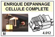 SHURE M92  <BR>Cellule diamant Sphérique (<B>cartridge</B>)<small> 2016-11</small>