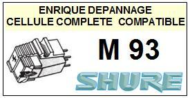 SHURE M93  Cellule de remplacement  avec diamant Sphérique