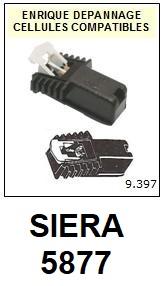 SIERA 5877  <BR>Cellule  pour tourne-disques (<B>cartridge</B>)<SMALL> 2018 JANVIER</small>