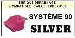 SILVER-SYSTÈME 90-POINTES-DE-LECTURE-DIAMANTS-SAPHIRS-COMPATIBLES