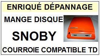 snoby mange disque courroie tourne disques sc 2014 04 15 euros. Black Bedroom Furniture Sets. Home Design Ideas