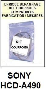 SONY-HCDA490 HCD-A490-COURROIES-ET-KITS-COURROIES-COMPATIBLES