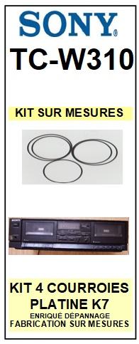 SONY-TCW310 TC-W310-COURROIES-ET-KITS-COURROIES-COMPATIBLES