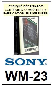 SONY-WM23 WM-23-COURROIES-ET-KITS-COURROIES-COMPATIBLES