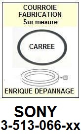 SONY 3513066XX 3-513-066-XX <BR>Courroie carrée référence sony (<B>square belt</B> manufacturer number)<small> 2018 MARS</small>