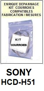 SONY-HCDH51 HCD-H51-COURROIES-ET-KITS-COURROIES-COMPATIBLES