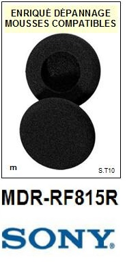 SONY<br> MDRRF815R MDR-RF815R mousse compatible (vente par paire)<small>  2015-09</small>