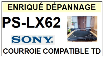 SONY-PSLX62 PS-LX62-COURROIES-ET-KITS-COURROIES-COMPATIBLES