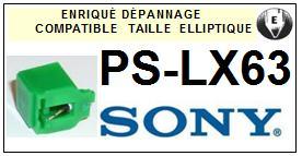 SONY PSLX63 PS-LX63 <bR>Pointe diamant elliptique pour tourne-disques (stylus)<SMALL> 2015-10</small>