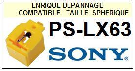 SONY PSLX63 PS-LX63 <br>Pointe diamant sphérique pour tourne-disques (stylus)<SMALL> 2015-10</SMALL>