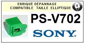 SONY PSV702 PS-V702 <br>Pointe diamant elliptique pour tourne-disques (stylus)<small> 2015-12</small>