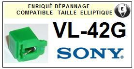 SONY VL42G VL-42G <br>Pointe Diamant <b>Elliptique</b> (stylus)<small> 2016-01</small>