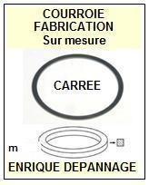 SONY WMFX507 WM-FX507 <br>Courroie pour baladeur walkman k7 (<B>square belt</B>)<small> 2016-01</small>