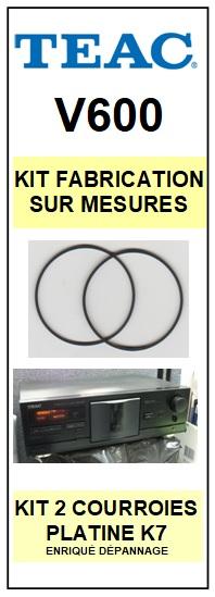 TEAC TASCAM-V600 V-600-COURROIES-ET-KITS-COURROIES-COMPATIBLES