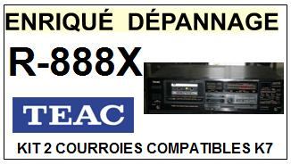 TEAC TASCAM R888X R-888X <br>kit 2 courroies pour platine K7 (set belts)<small> 2016-01</small>