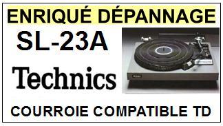 TECHNICS SL23A SL-23A fg servo player <br>courroie d\'entrainement pour tourne-disques (<b>flat belt</b>)<small> 2016-01</small>