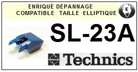 TECHNICS SL23A SL-23A <bR>Pointe elliptique pour tourne-disques (<b>elliptical stylus</b>)<SMALL> 2016-01</small>
