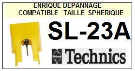 TECHNICS SL23A SL-23A <br>Pointe sphérique pour tourne-disques (<B>sphérical stylus</b>)<SMALL> 2016-01</SMALL>