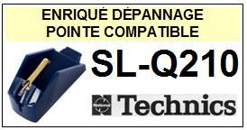 TECHNICS SLQ210 SL-Q210 <br>Pointe  sphérique pour tourne-disques (stylus)<small> 2015-11</small>