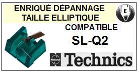 TECHNICS<br> SLQ2 SL-Q2 Pointe (stylus) elliptique pour tourne-disques <BR><small>se 2015-08</small>