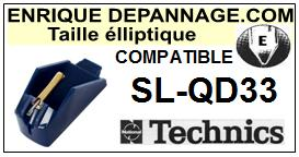 TECHNICS<br> SLQD33 SL-QD33 Pointe (stylus) elliptique pour tourne-disques<small> 2015-10</small>