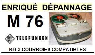 TELEFUNKEN-M76-COURROIES-ET-KITS-COURROIES-COMPATIBLES