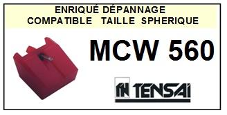 TENSAI MCW560 MCW-560 <br>Pointe diamant sphérique pour tourne-disques (stylus)<SMALL> 2015-12</SMALL>