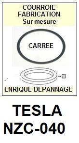 TESLA NZC040 NZC-040 <BR>courroie d\'entrainement pour tourne-disques (square belt)<small> 2016-01</small>