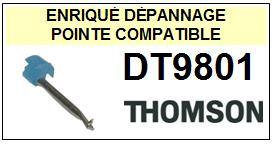 THOMSON DT9801 <BR>Pointe sphérique pour tourne-disques (<b>sphérical stylus</b><small> 2016-01</small>