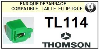 THOMSON TL114  <br>Pointe diamant elliptique pour tourne-disques (stylus)<SMALL> 2015-10</small>
