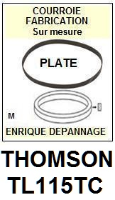 THOMSON TL115TC <br>courroie plate pour tourne-disques (<b>flat belt</b>)<small> 2016-01</small>